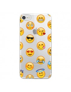 Coque Smiley Emoticone Emoji Transparente pour iPhone 7 et 8 - Laetitia
