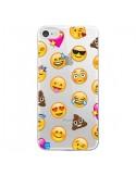 Coque iPhone 7 et 8 Emoticone Emoji Transparente - Laetitia