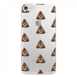 Coque iPhone 7/8 et SE 2020 Shit Poop Emoticone Emoji Transparente - Laetitia