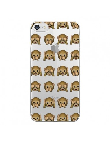 Coque Singe Monkey Emoticone Emoji Transparente pour iPhone 7 et 8 - Laetitia