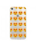 Coque Love Amoureux Smiley Emoticone Emoji Transparente pour iPhone 7 et 8 - Laetitia
