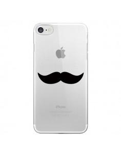 Coque iPhone 7/8 et SE 2020 Moustache Movember Transparente - Laetitia