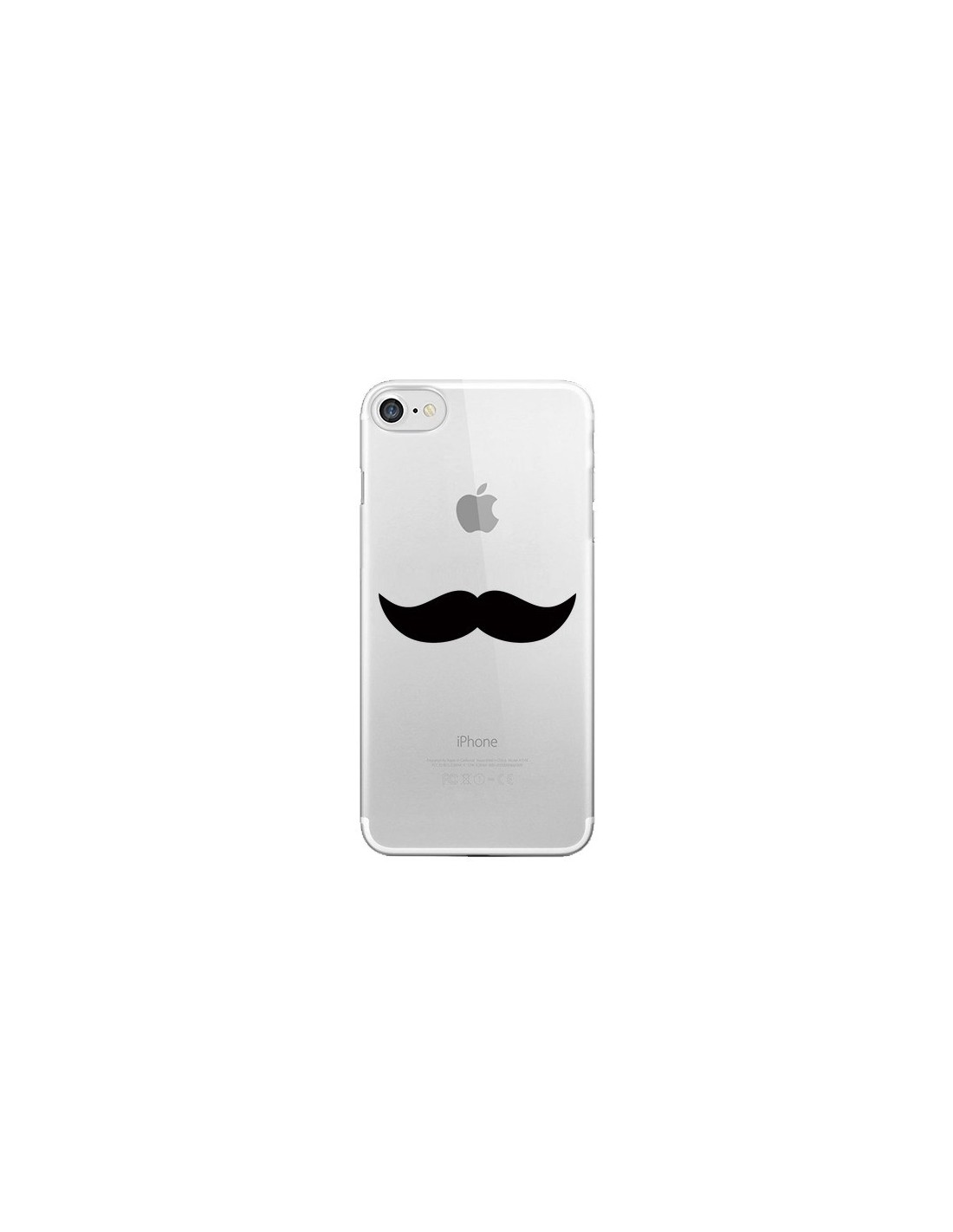 coque moustache movember transparente pour iphone 7 et 8 laetitia. Black Bedroom Furniture Sets. Home Design Ideas