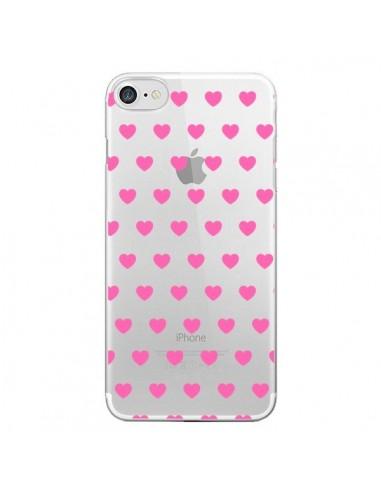 Coque Coeur Heart Love Amour Rose Transparente pour iPhone 7 et 8 - Laetitia