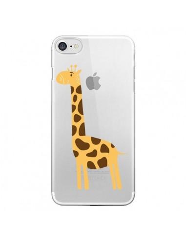 Coque Girafe Giraffe Animal Savane Transparente pour iPhone 7 et 8 - Petit Griffin