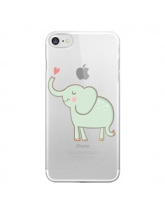 Coque Elephant Elefant Animal Coeur Love Transparente pour iPhone 7 et 8 - Petit Griffin