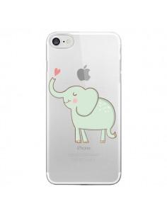Coque Elephant Elefant Animal Coeur Love Transparente pour iPhone 7 - Petit Griffin