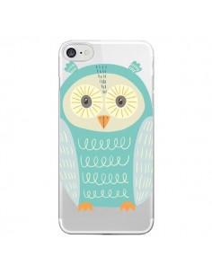 Coque Hibou Owl Transparente pour iPhone 7 - Petit Griffin