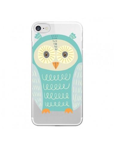 Coque iPhone 7 et 8 Hibou Owl Transparente - Petit Griffin