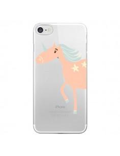 Coque Licorne Unicorn Rose Transparente pour iPhone 7 - Petit Griffin