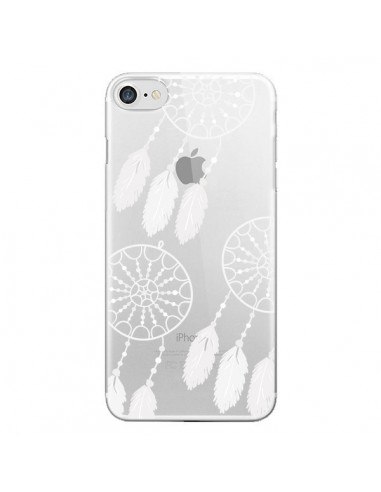 Coque Attrape Rêves Blanc Dreamcatcher Triple Transparente pour iPhone 7 et 8 - Petit Griffin