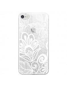 Coque Lace Fleur Flower Blanc Transparente pour iPhone 7 - Petit Griffin