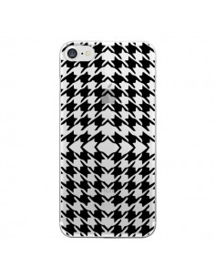 Coque Vichy Carre Noir Transparente pour iPhone 7 - Petit Griffin