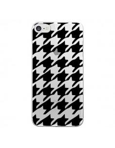 Coque Vichy Gros Carre noir Transparente pour iPhone 7 - Petit Griffin