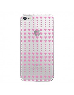 Coque Coeurs Heart Love Amour Rose Transparente pour iPhone 7 - Petit Griffin