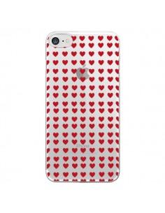 Coque Coeurs Heart Love Amour Red Transparente pour iPhone 7 - Petit Griffin