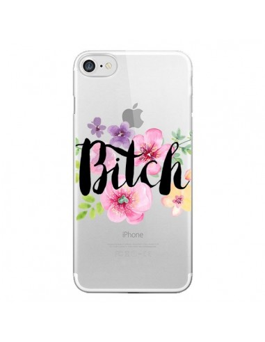 Coque Bitch Flower Fleur Transparente pour iPhone 7 et 8 - Maryline Cazenave