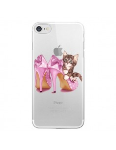 Coque Chaton Chat Kitten Chaussures Shoes Transparente pour iPhone 7 - Maryline Cazenave