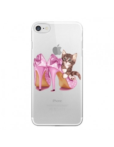 Coque Chaton Chat Kitten Chaussures Shoes Transparente pour iPhone 7 et 8 - Maryline Cazenave