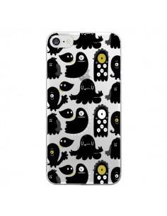 Coque Monsters Monstres Pattern Transparente pour iPhone 7 - Maria Jose Da Luz