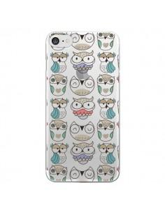 Coque Chouettes Owl Hibou Transparente pour iPhone 7 - Maria Jose Da Luz