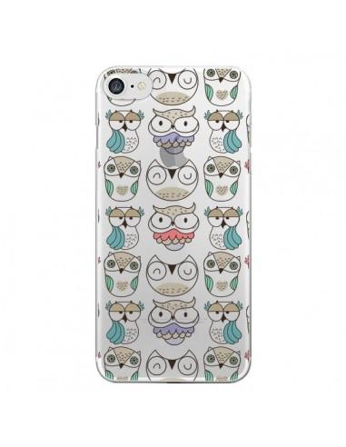 Coque iPhone 7 et 8 Chouettes Owl Hibou Transparente - Maria Jose Da Luz