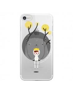 Coque Monstre Princesse Transparente pour iPhone 7 - Maria Jose Da Luz