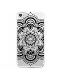 Coque iPhone 7 et 8 Mandala Noir Azteque Transparente - Nico