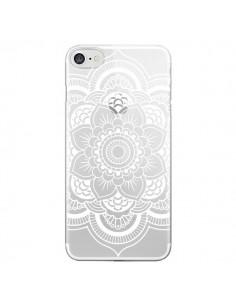 Coque Mandala Blanc Azteque Transparente pour iPhone 7 et 8 - Nico