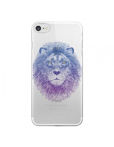 Coque Lion Animal Transparente pour iPhone 7 et 8 - Rachel Caldwell