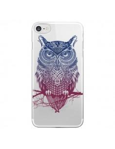 Coque Hibou Chouette Owl Transparente pour iPhone 7 et 8 - Rachel Caldwell