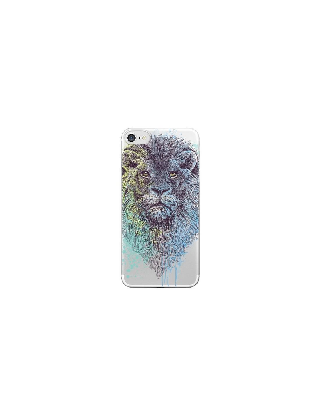 Coque iPhone 7/8 et SE 2020 Roi Lion King Transparente - Rachel Caldwell