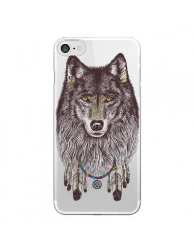 Coque Loup Wolf Attrape Reves Transparente pour iPhone 7 et 8 - Rachel Caldwell