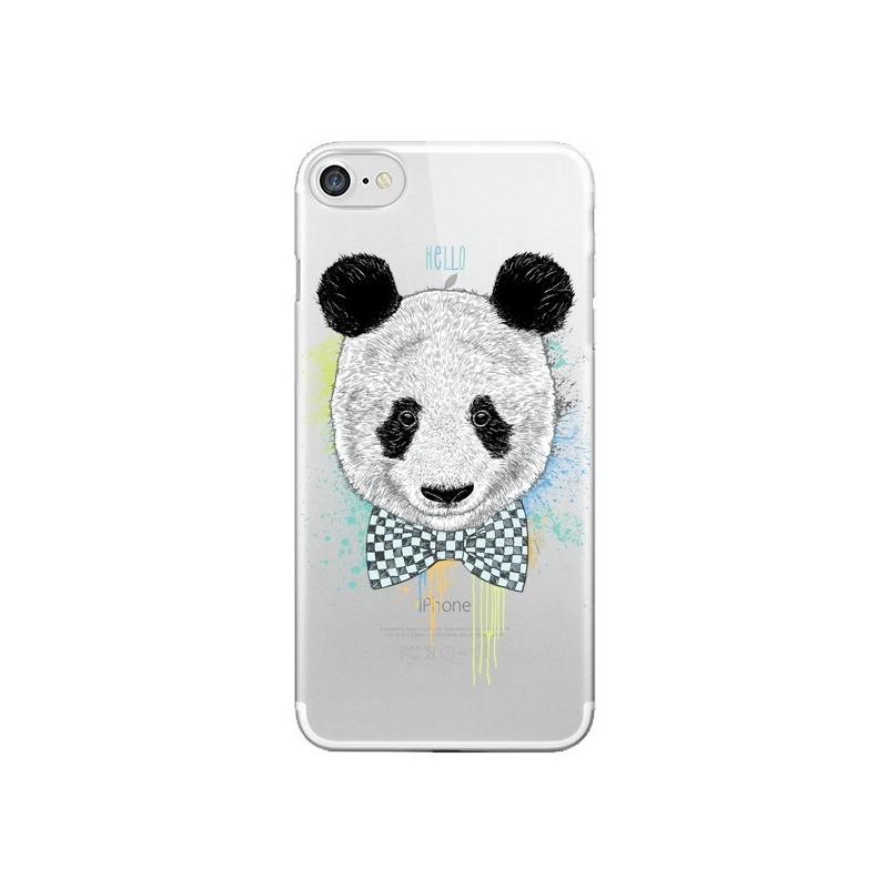 Coque Panda Noeud Papillon Transparente pour iPhone 7 et 8 - Rachel Caldwell