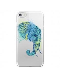 Coque iPhone 7/8 et SE 2020 Elephant Elefant Transparente - Rachel Caldwell