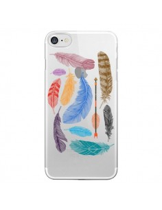 Coque Plume Feather Couleur Transparente pour iPhone 7 et 8 - Rachel Caldwell