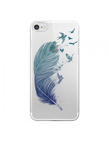 Coque Plume Feather Fly Away Transparente pour iPhone 7 et 8 - Rachel Caldwell