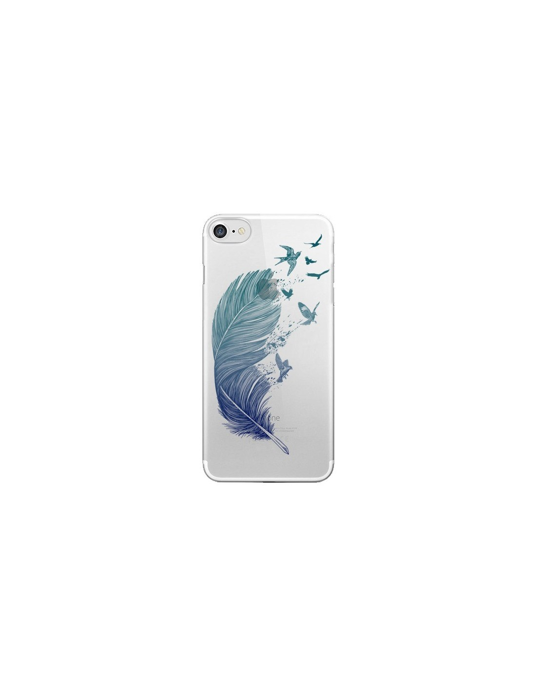 coque plume feather fly away transparente pour iphone 7 et 8 rachel caldwell. Black Bedroom Furniture Sets. Home Design Ideas