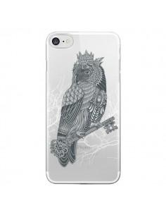 Coque Owl King Chouette Hibou Roi Transparente pour iPhone 7 et 8 - Rachel Caldwell