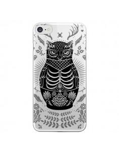 Coque Owl Chouette Hibou Squelette Transparente pour iPhone 7 et 8 - Rachel Caldwell