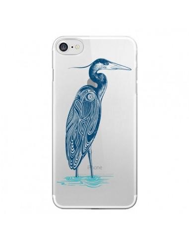 Coque Heron Blue Oiseau Transparente pour iPhone 7 et 8 - Rachel Caldwell