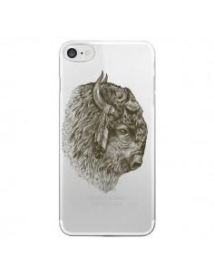 Coque Buffalo Bison Transparente pour iPhone 7 et 8 - Rachel Caldwell