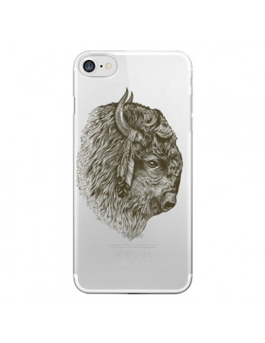 Coque iPhone 7 et 8 Buffalo Bison Transparente - Rachel Caldwell