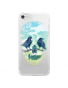 Coque Tête de Mort Nature Transparente pour iPhone 7 et 8 - Rachel Caldwell