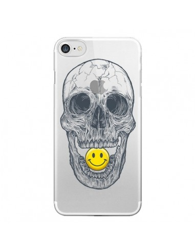 Coque Tête de Mort Smiley Transparente pour iPhone 7 et 8 - Rachel Caldwell