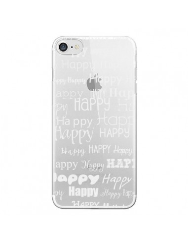 Coque Happy Happy Blanc Transparente pour iPhone 7 et 8 - R Delean