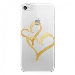 Coque iPhone 7/8 et SE 2020 Deux Coeurs Love Amour Transparente - Sylvia Cook