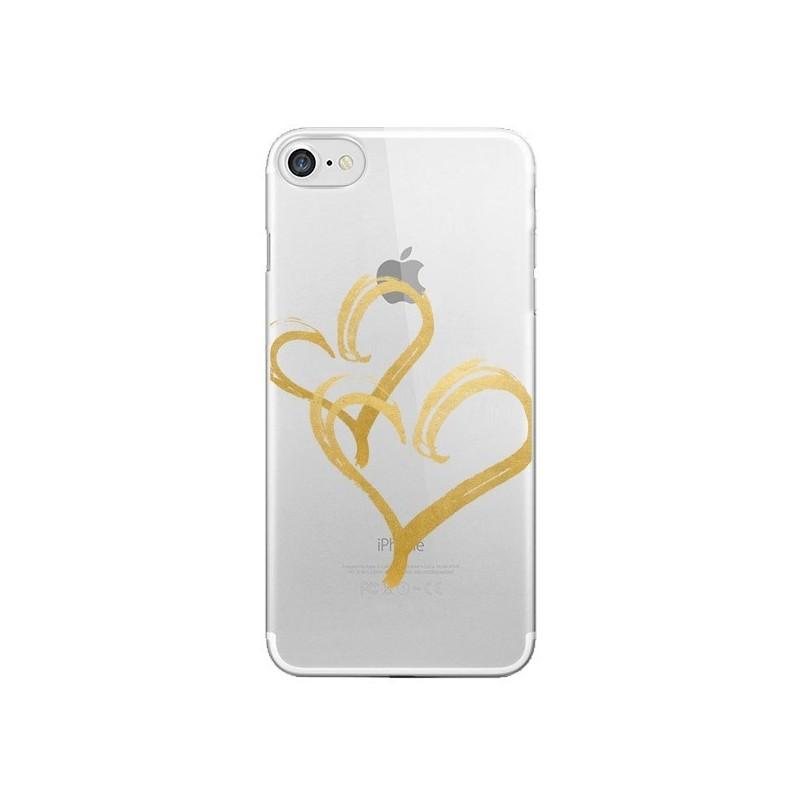 Coque Deux Coeurs Love Amour Transparente pour iPhone 7 et 8 - Sylvia Cook