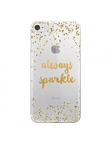 Coque Always Sparkle, Brille Toujours Transparente pour iPhone 7 et 8 - Sylvia Cook