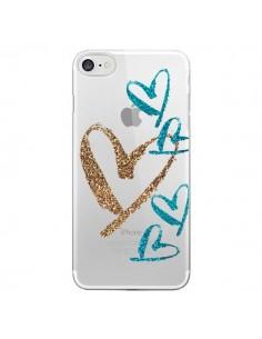 Coque Coeurs Heart Love Amour Transparente pour iPhone 7 et 8 - Sylvia Cook